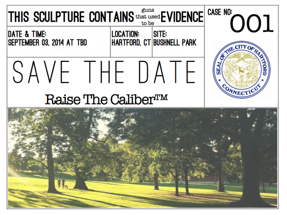 Save the date!  Raise The Caliber™ by Michael Kalish, a tribute to the victims of illegal gun violence in America